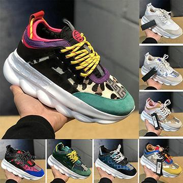Nuevo Con la bolsa para el polvo Reacción en cadena Suela con estampado en relieve Suela 2019 Casual Diseñador Hombre Zapatillas Mujer Moda deportiva Zapatillas Casual Zapatillas