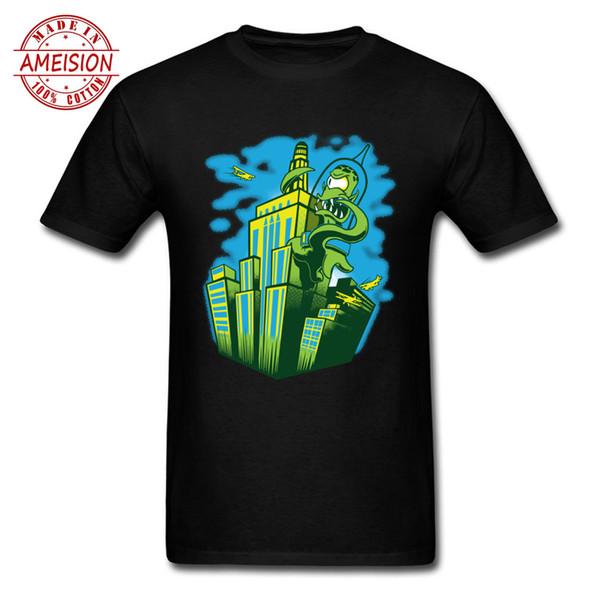 Green Anime Funny Mens T-Shirt Leon Blank T Shirt Teal Shirt Mens Urban T Shirt per uomo Junji Ito 90 Cartoon Tee Shirt
