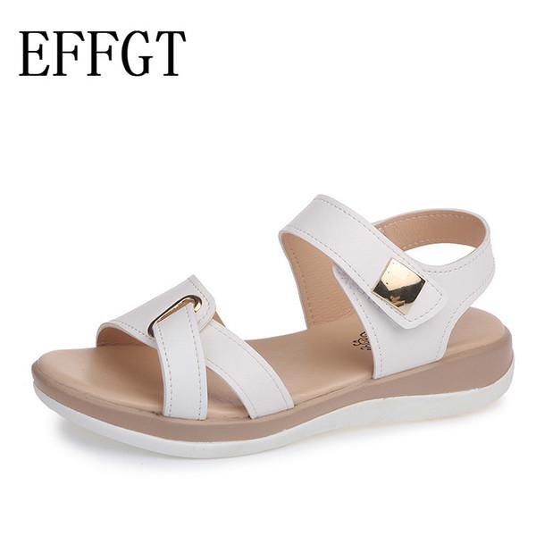 Großhandel EFFGT 2019 Sommer Frauen Sandalen Schuhe Metall Weiche Bequeme Keil Sandalen Damen Fischmund Mode Strand Casual K11 Von Yunduoa, $34.79 Auf