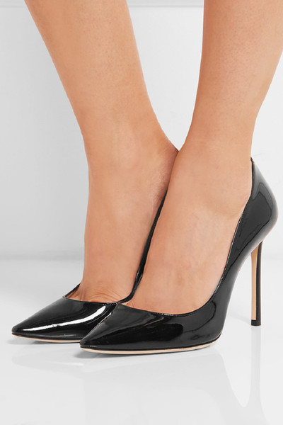 ZDONE Handmade Women's High Heel Pumps Patent Leather Office Career Slip-on Fashion Dress Evening Shoes UAD002