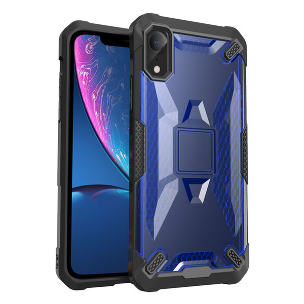 Robot PC Case for iPhone X Samsung S9 S9 Plus Protective Shell TPU Shockproof Defender Case for iPhone X 8 6 7 Plus