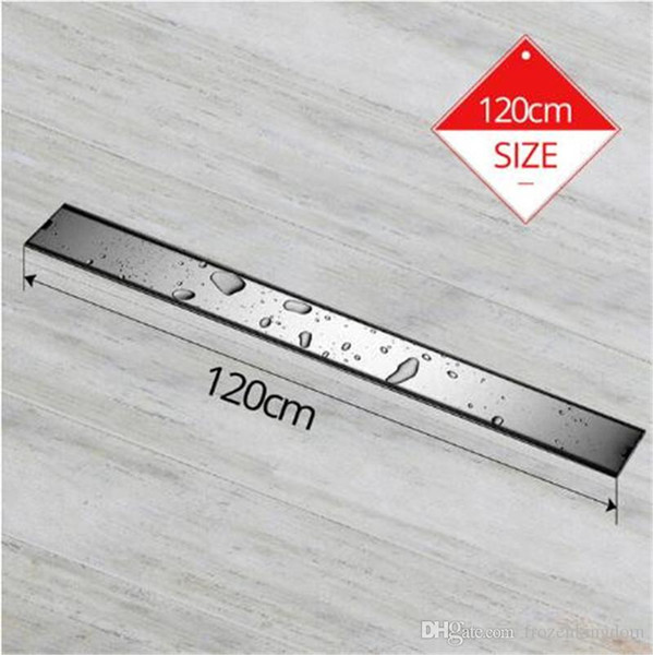 Free shipping Odor-resistant Floor Drain Cover 60 /80 /100 /120cm Rectangle SUS304 Stainless Steel Shower Grate Invisible Long Floor Drain