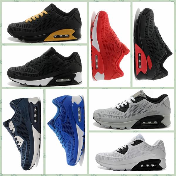 Compre Nike Air Max Original Venta Caliente Barato Hombres Mujeres Deportes Al Aire Libre Zapatos 90KPU 90 KPU 90S Diseñador De Lujo Oficial