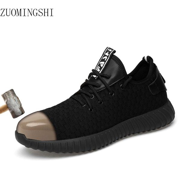 stable quality lowest discount biggest discount Fashion Steel Toe Light Safety Shoes Men Bot Breathable Work Shoes ...