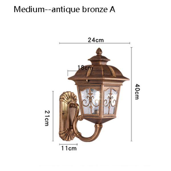 medium Antique bronze A