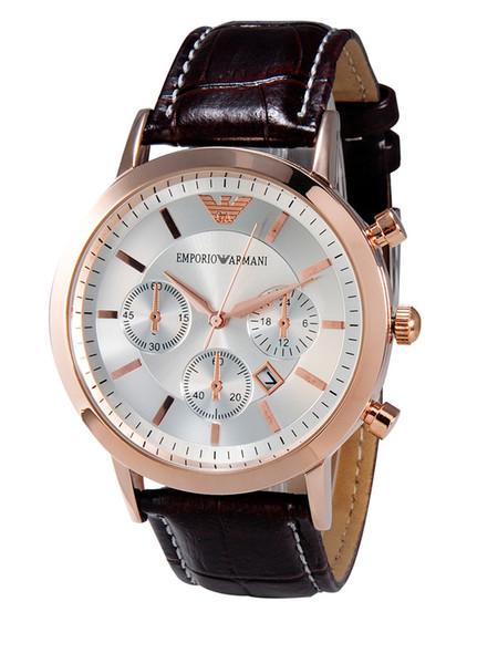 AAA Marca de lujo para hombre relojes Gentalmen marca de lujo relojes reloj de pulsera de cuero negro marrón cuadrado dial Mejores marcas