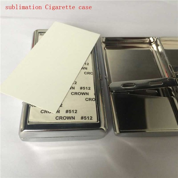 sublimaton new blank metal Cigarette Cases DIY personalized blank hot transfer printing consumables supplies can print two sides