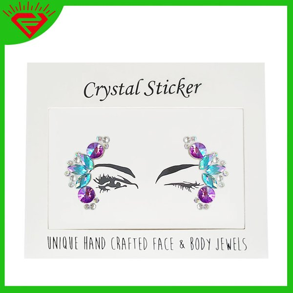 2019 Decent art sparkle gem tattoo decal women's dance party USES DIY eyelet crystals to temporarily decorate a plaster cast