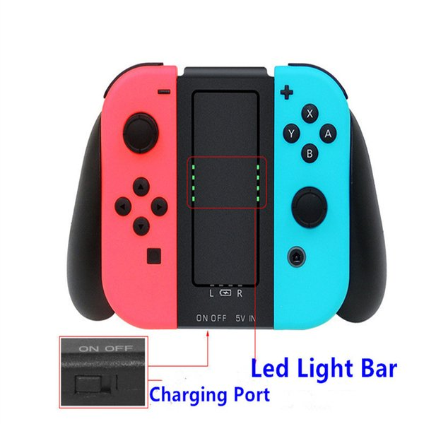 2000mAh charging Grip Holder For Nintend Switch Joy-Con Comfort Grip Handle Charger Dcok Station Bracket for Nintend Swith