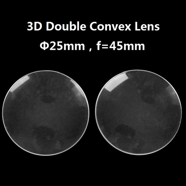 100pcs/lot Acrylic Diameter 25mm 45mm focal BiConvex Lens for Google Cardboard Virtual Reality 3D VR Glasses Lens DIY Wholesale