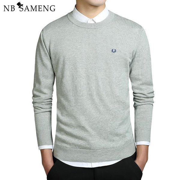 2018 New Fashion Men Winter Embroidery Sweaters O-Neck Long Sleeve Knitted Sweatercoat Imported-clothing Plus Size 3XL