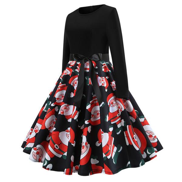 Women Christmas Vintage Dress 3D Print Cute Cartoon Dress Girls Christmas  Gifts Party Evening Dresses Free Shipping 5bb50a877