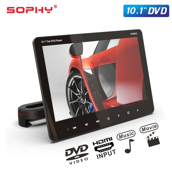 New 10.1 Inch TFT LED Screen Car Headrest Monitor Touch Button DVD Video Player USB/SD/HDMI/IR/FM/Game/Speakers SH1018DVD
