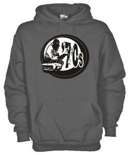 Vintage Sweatshirt Hoodie kz05 70 039 s Lebensstil Rom kriminelle Raubüberfälle bewaffnet