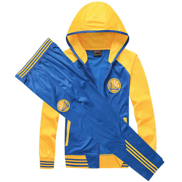 top popular Tracksuit for Men Sweat Suits Basketball Team Embroidered Mens Tracksuit Long Sleeve Polyester Zipper Hooded Sport Suits Autumn M-5XL 2019