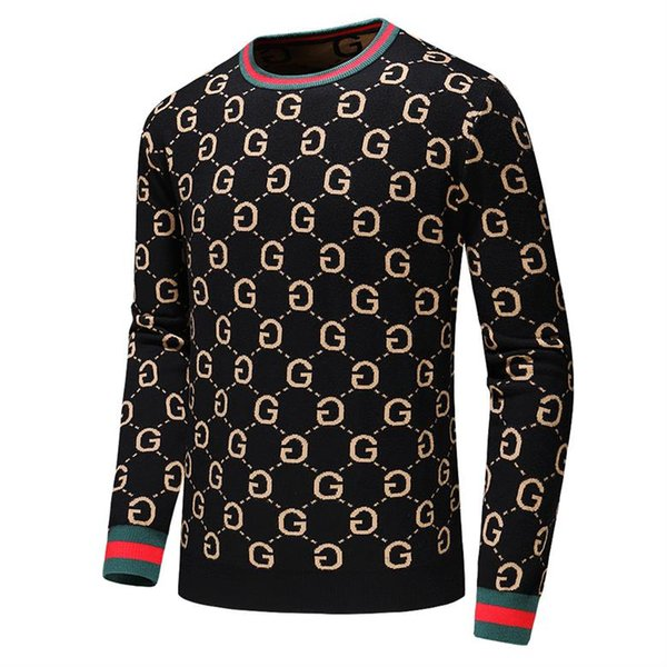 Men's Brand Fashion Letter Embroidery Knitwear Winter Men's Clothing Crew Neck Long Sleeve Sweater for Men Designer Hoodies New Arrivals #22