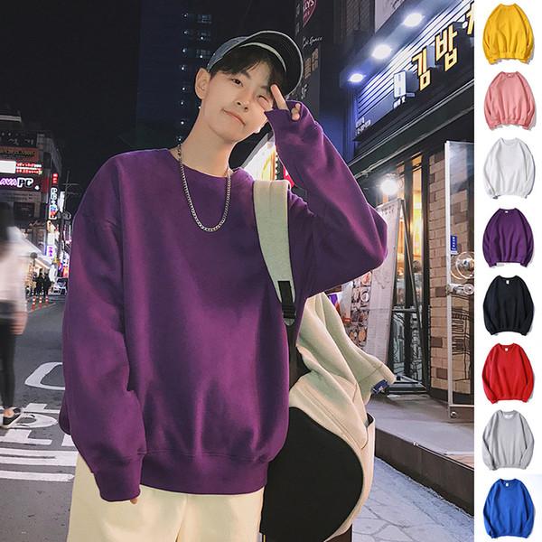 Privathinker Men Harajuku Hoodies Sweatshirts Oversized 2019 Men Women Streetwear Black Hoodie Male Hiphop Winter Basic Hoodies MX190803