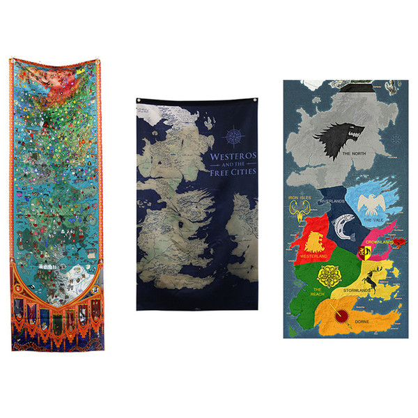 6 Styles Game of Thrones Home Outdoor Banner Flag Map Decoration Flag Hanging Flag Home Party Supplies Wholesale Prices