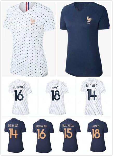 Top tailandia 2019 copa del mundo femenina Frances Soccer Jersey GRIEZMANN MBAPPE hembra 19 20 camiseta francesa POGBA KANTE niña Fútbol Francia