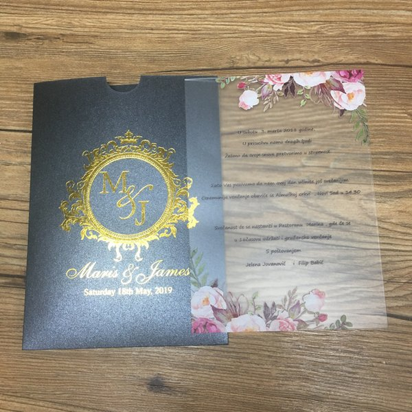 Luxury Design Wedding Invitation Card Popular China Wedding Acrylic Card Sample Cards Email Cards For Birthday From Galry 35 87 Dhgate Com