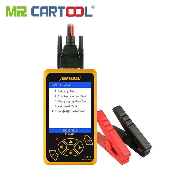 "BT460 Battery Tester Car 12V 24V Digital Analyzer Automotive Cranking Charger CCA Vehicle 4"" TFT Auto Portable Diagnostic Tools"