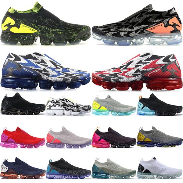 2019 vente chaude Moc 2 Acronyme chaussures de sport noir mens poinçon chaud noir bleu tonnerre chaussures de course de haute qualité des hommes des femmes de formateurs de créateurs