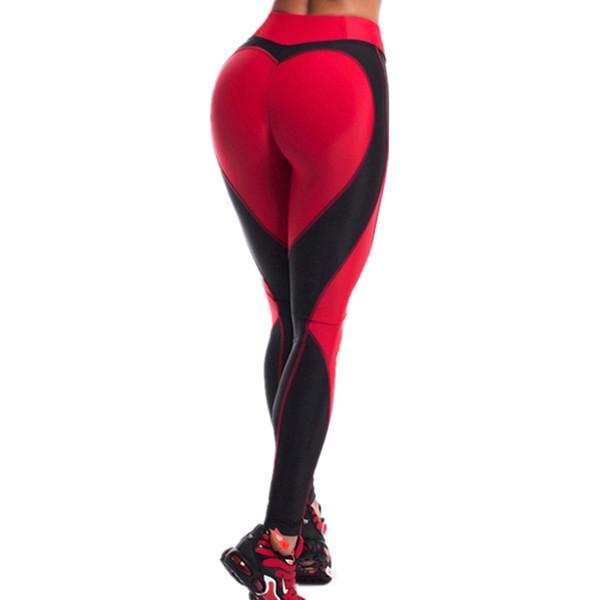 Yoga Legging Heart Pattern Mesh Splice Legging Sport Fitness Clothing Sportswear Elastic Sporting Leggings Pants #208114
