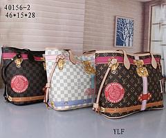 HOT L Lettre NEVERFULL cuir Sac à main Brown vieux rose fleur Sac de qualité supérieure d'impression Purse Femmes Mode Sacs Filles Sac