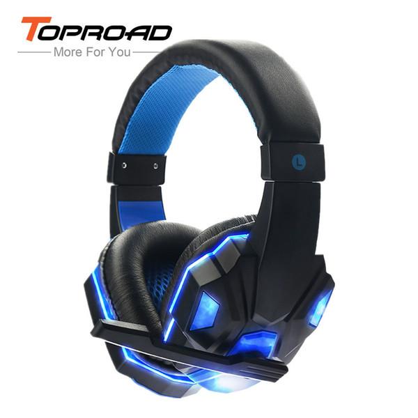 Toproad Sy830mv глубокий бас игры для наушников стерео над уха гарнитура повязка на голову наушники с Свет для компьютера ПК геймер T6190617