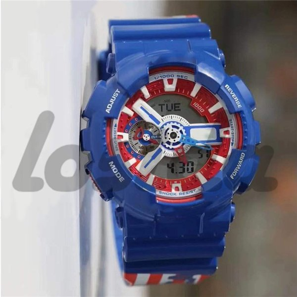 Marvel Super Hero Series Wrist Watches Limited Edition Iron Man Captain America Men's Sport Watches G Style Shock Watches With Special Box