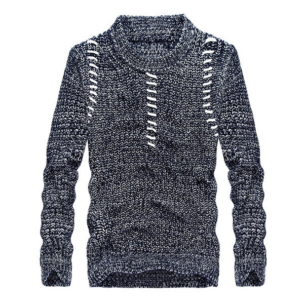 Drop shipping Men casual pullover sweater autumn mens slim fit knitted sweater coat AXP159