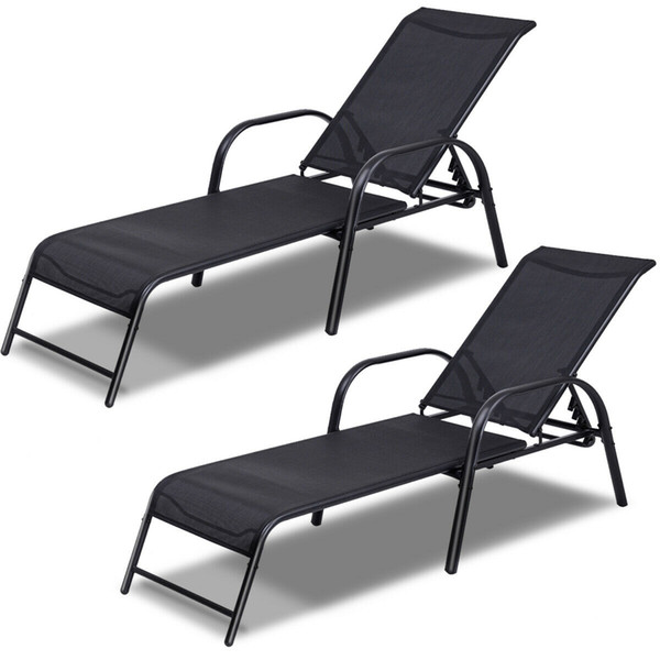 Enjoyable Of 2 Patio Lounge Chairs Sling Chaise Lounges Recliner Adjustable Back New From Spr2198 199 0 Dhgate Com Gmtry Best Dining Table And Chair Ideas Images Gmtryco
