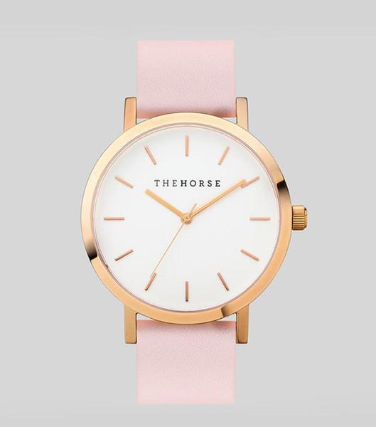 Лошадь часы известные роскошные женщины мужчины часы 40 мм унисекс дамы мужские часы розовое золото кожа женщина мода платье наручные часы