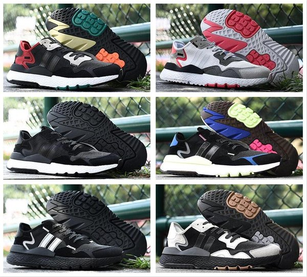 Hombres Nite Jogger Boost Running Shoes Moda Retro CG7088 3M Popcorn Designer Shoes Sport Casual Walking Outdoors Athletic Sneakers