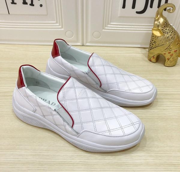 Роскошный популярный способ с causual дома на открытом воздухе обувь коробка топ в штучной упаковке мужские женские кроссовки сандалии бездельники 099прада