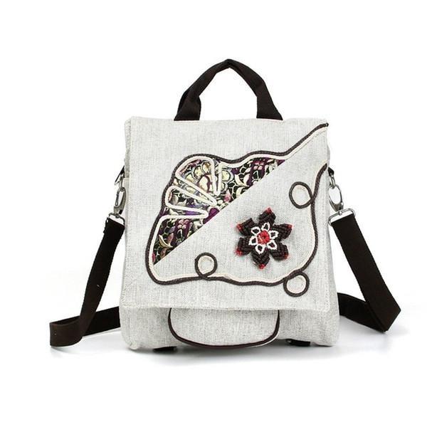 2019 new style Chinese ethnic Shoulder bag hand knitting backpack bag messenger bag Crossbody Bags women lady