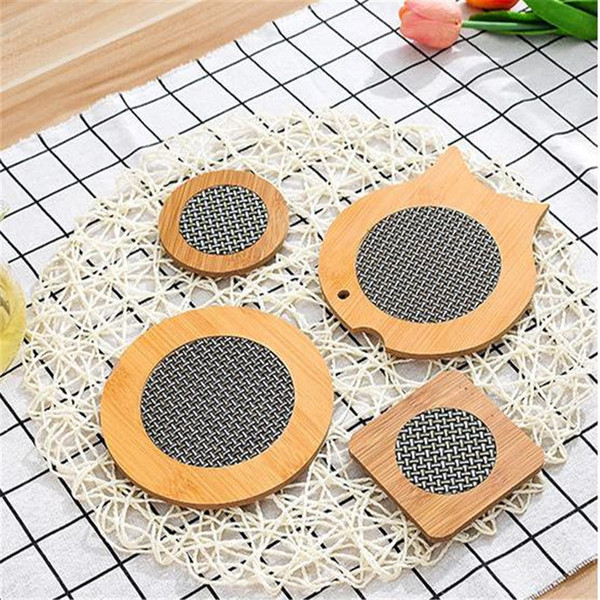 Fabric Wood Heat Resistant Pad Bowl Cup Pot Coasters Multi Mat Kitchen Cooking Home Decoration yq00467