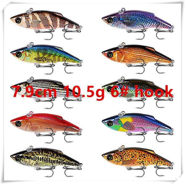 7.9cm 10.5g 6# hooks