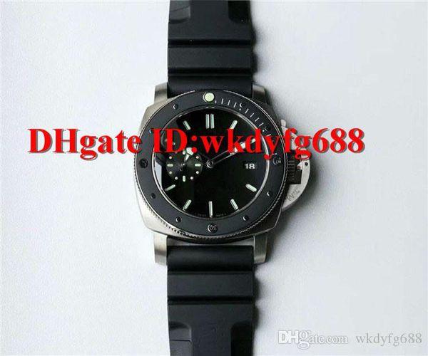 SF V6 Luxury PAM389 watch Swiss P9000 Automatic Movement Sapphire Crystal Titanium case ceramic Bezel Solid Case Back Mens Watch