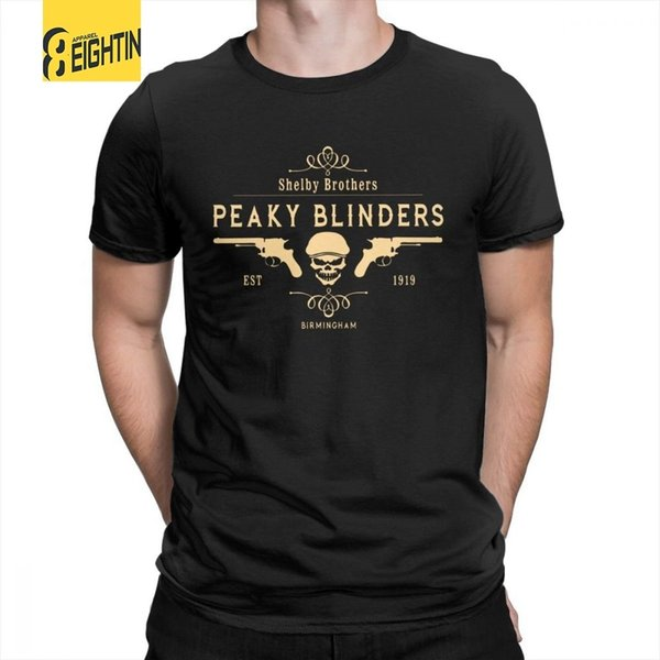 Peaky Blinders T Shirt Shelby Brothers Novelty Round Neck Short Sleeve Tees Mens White T-shirts 100% Cotton Awesome Clothing J190525