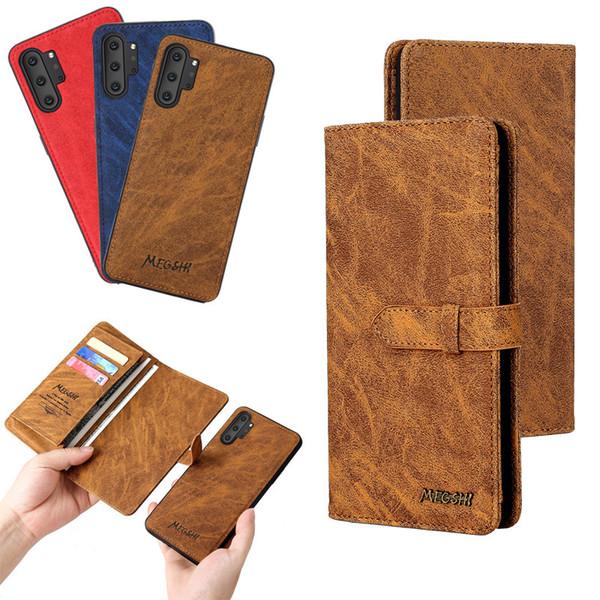 Samsung Note10plus S10 S9 S9plus Mappen-Art Schutzhülle Anti-Rutsch-Schlag-Abdeckung Telefon-Kasten iPhone6plus Karten-Telefon mit Halter Holster