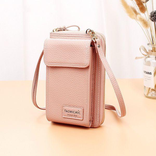 Nueva moda de lujo Simple de cuero Mini pequeñas mujeres Crossbody bolsa cadena Messenger bandolera monedero bolsos Bolsas Feminina