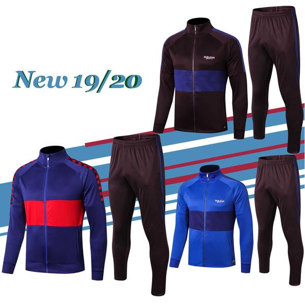 Novedad 2019/20 chaqueta de chándal de fútbol MEssi 19 20 chaqueta de fútbol de alta calidad SUAREZ INIESTA PIQUE COUTINHO chaqueta de chándal de fútbol