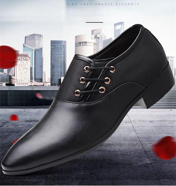 Italian Man Shoes Brown Oxford Shoes For Men Zapatos De Hombre De Vestir Formal Leather Shoes Men Dress Tenis Masculino Adulto Penny Loafers Wedges
