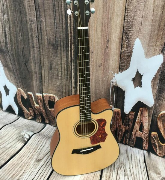 Envío gratis 41 pulgadas de chapa de abeto guitarra acústica al por mayor instrumento musical al por mayor guitarra acústica al por mayor