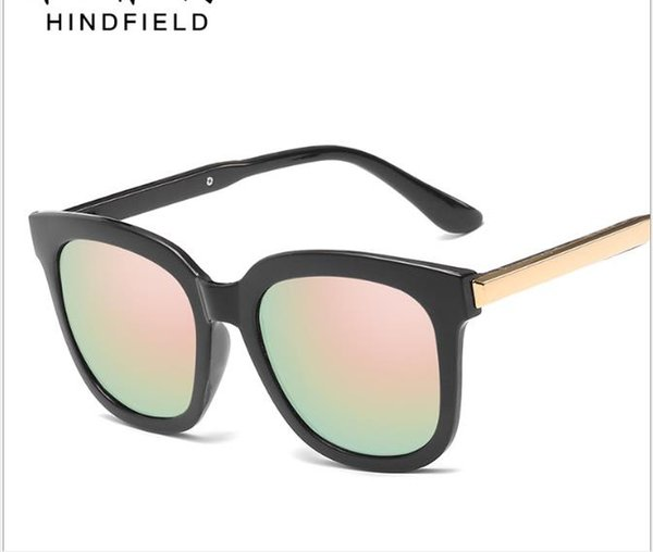 d5b296776a Gafas de sol versión coreana gafas retro dama gafas de sol película color  gafas de sol