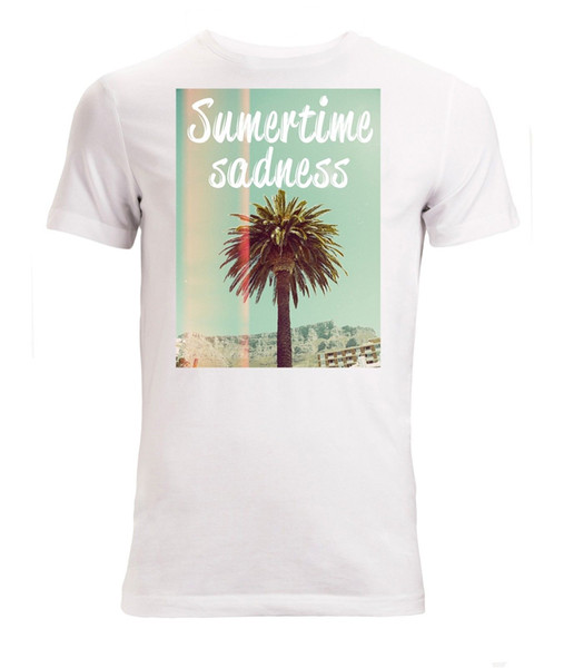 Summertime sadness palm tree Men's White T-Shirt Sizes S-XXL fear cosplay liverpoott tshirt