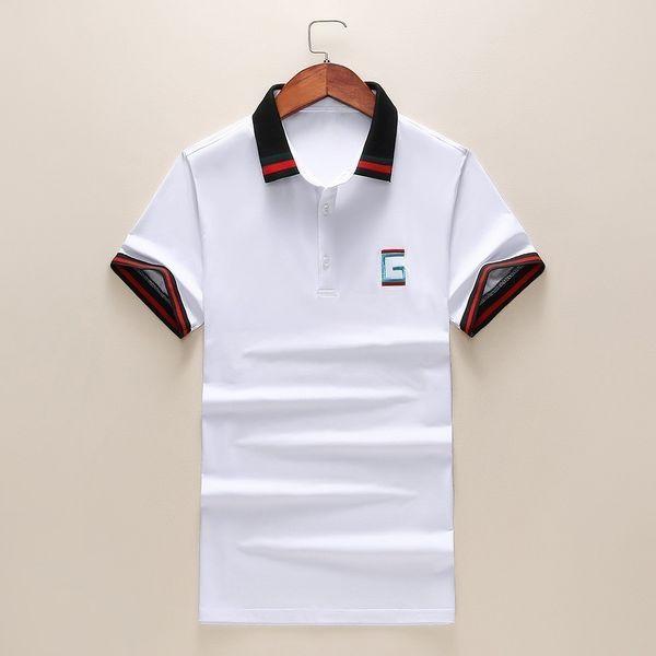 2019 novo high-end moda casal de manga curta lapela T-shirt POLO camisa hc19515015