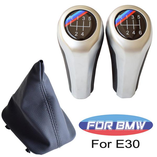 Fit For BMW E30 Руководство Автомобиль ABS переключения передач палочке ручка переключения рычага гандбол с кожаным Gaiter ботинка крышки автомобиля Styling