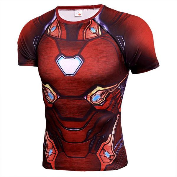 Marvel Avengers Endgame T-shirt Designer Homme Captain America Thor Spiderman imprimé 3D à manches courtes à séchage rapide Tshirt Vêtements
